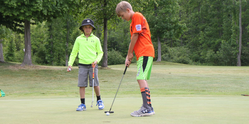 Photo of day 5 golf tournament at Tamarack Golf Camp.