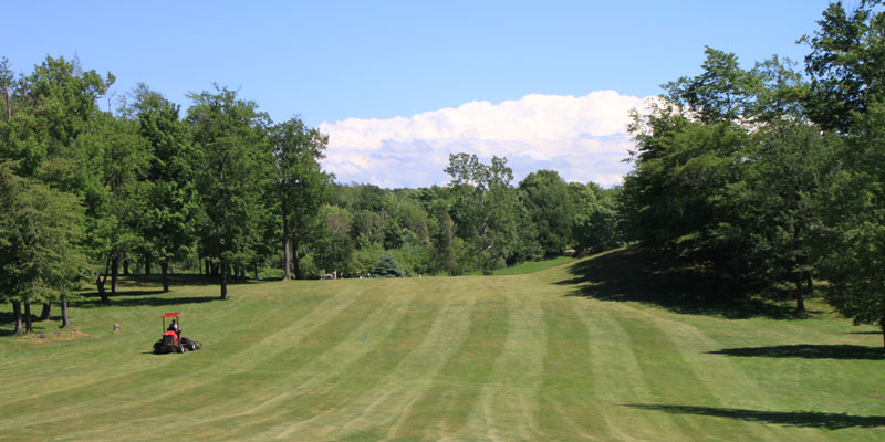 Photo of Par 5 Hole 6 fairway at Tamarack Golf Club in Oswego, NY.