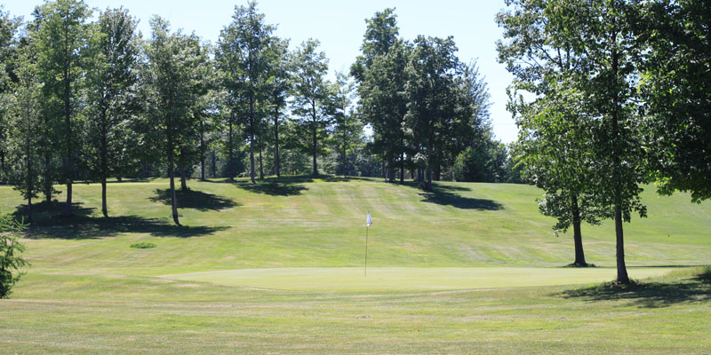 Photo of Par 3 Hole 17 at Tamarack Golf Club in Oswego, NY.